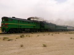 Uzbekistan train - a faster alternative to driving!