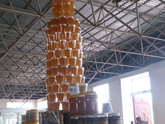 Stack of honey; Nukus Bazaar