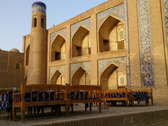 An inviting chaihana (tea-house) beckons; Khiva