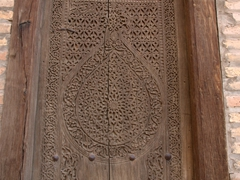 Old wooden door; Khiva