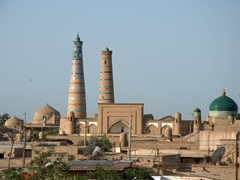 Khiva skyline as seen from the walls of the North Gate