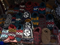 Warm woolen socks for sale for 6000 Som ($1)