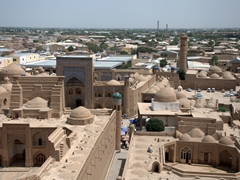 View of Khiva from the top of the 47 meter Juma Minaret