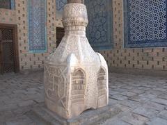 Marble column base; Tosh-Hovli Palace
