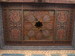 Intricate ceiling; Tosh-Hovli Palace