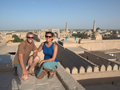 Enjoying picturesque Khiva!