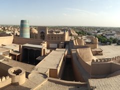 View of Khiva from the Kuhna Ark watchtower