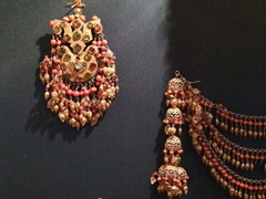 Jewelry on display at the museum inside Mohammed Rakhim Khan Medressa