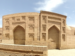 Panoramic view outside Pahlavon Mahmud Mausoleum