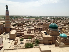 Another view of beautiful Khiva from the Juma Minaret
