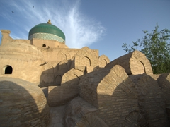 Tombs of khans in the courtyard of Pahlavon Mahmud Mausoleum