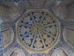 Interior dome of Pahlavon Mahmud Mausoleum