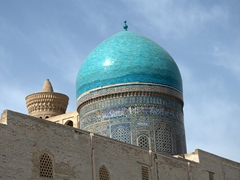 Blue dome of Mir-i-Arab Medressa; Bukhara