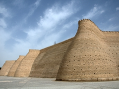 Exterior walls of the Ark, Bukhara's oldest structure (dating from the 5th century)