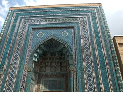 Ornate entrance; Shah-I-Zinda
