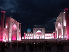 Sound and light show at the Registan, a free 30 minute performance nightly during peak season; Samarkand