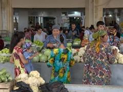Bazaar scene; Samarkand