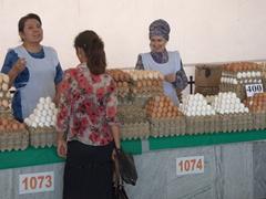 Egg sellers; Chorsu Bazaar