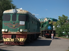 Over 40 antique trains on display at Tashkent's Railway Museum