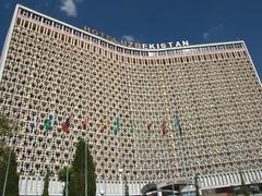The massive Hotel Uzbekistan; Tashkent