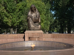 Eternal flame at the Crying Mother Monument; Tashkent