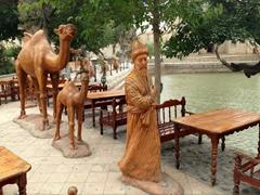 Camel caravan statues; Lyabi-Hauz