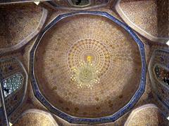Ceiling of Gur-e-Amir Mausoleum; Samarkand