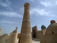Built in 1127, the Kalon Minaret is the tallest building in Central Asia