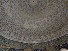 Interior dome of the Octogonal Mausoleum; Shah-I-Zinda