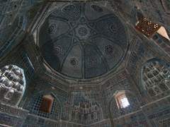 Don't forget to look up at the detailed tilework on the mausoleums' domes at Shah-I-Zinda