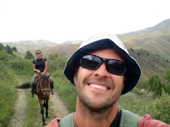Taking a selfie on horseback!