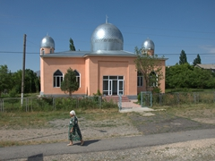 A simple mosque near Aksu-Zhabagly Nature Reserve