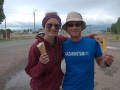 Ice cream munchers (Helen and Lars)