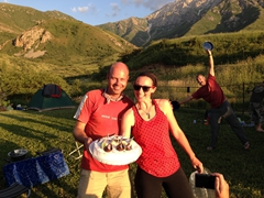 Celebrating Bjorn's 41st birthday; Aksu-Zhabagly Nature Reserve