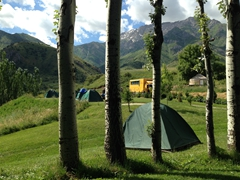 View from our tent; Aksu-Zhabagly Nature Reserve
