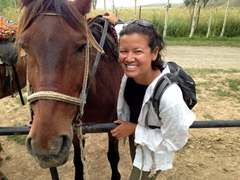"Becky with her awesome horse (nicknamed ""muncher"" which was a well deserved name!)"