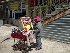 Coffee vendor; Taraz Bazaar