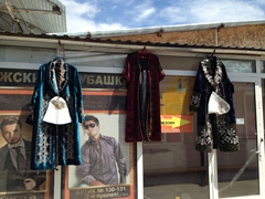 Traditional Kazakh outfits for sale; Taraz Bazaar