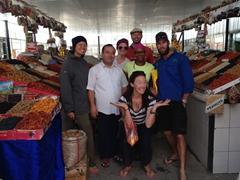 Becky, Helen, Bjorn, Denis, Kyle and Kate at the Taraz Bazaar