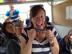 """Kate excited about her fake """"snickers"""""""