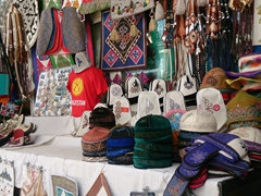 Souvenirs for sale at the Osh Bazaar