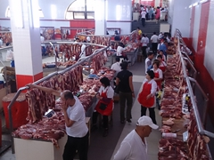 Meat section of Osh Bazaar