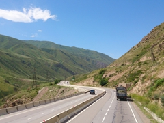 Scenery on our drive from Bishkek to Lake Issyk-Kol
