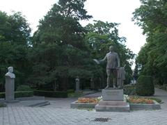 Open air museum of sculptures at Oak Park; Bishkek