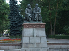 Karl Marx and Friedrich Engels; Oak Park in Bishkek