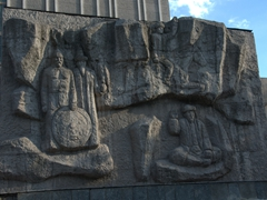 Soviet style monuments abound in pretty Bishkek