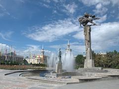 Philharmonic square in Bishkek