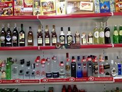 Vodka for sale at $2 for 1 liter, making it one of Bishkek's best bargains