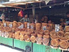 Lovely bread for sale; Osh Bazaar