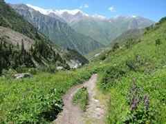 The hike down the mountain is a lot easier than our ascent; Ala Archa